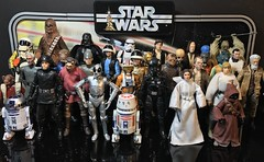 """Star Wars 1977 customs and Hasbro 6"""" Black Series so far. I still need to make more cantina figures. (chevy2who) Tags: custom starwars40th darthvader leia han luke series black blackseries starwars hope new cantina figure action toyphotography toy wars star starwarsblackseriescustoms 1977"""