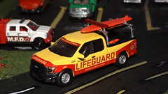 """Greenlight """"Baywatch"""" Emerald Bay Lifeguard Ford F150 (car show buff1) Tags: greenlight baywatch emerald bay lifeguard united states forestry service pierce dash hazard squad ford police interceptor sedan utility classic seagrave fire engine bmw mack b truck international workstar brush f550 2015 new models diecast collectibles series 13 chicago dept dodge monaco 2010 diorama chief command charger pursuit speedway"""
