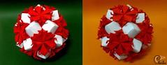 Hvězda krve - Star of blood (Charles Dragon Smith) Tags: kusudama origami red flower paper