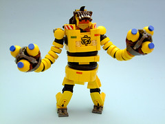 Lego ARMS - Mechanica (Djokson) Tags: arms nintendo switch mechanica lego moc model toy mech robot suit hardsuit rockets yellow black highpower djokson