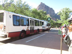 Shuttle To The Narrows (rudyg39) Tags: vacation zionnationalpark springdale utah shuttle narrows visitorcenter