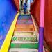 Painted Staircase in Santa Catarina Palopó, Guatemala