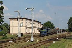 ST44-1239 in Zary (PL) beim Umsetzen zur Ausfahrt (M. Eisenmann) Tags: st44 diesellok polen zary gagarin pkp