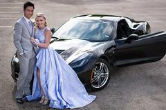 That Car Though (Ethan Blankenship) Tags: him her car corvette vette fast black sun date reflection prom marrage beautiful couple suit dress up dressed bridal going purple blue wheels