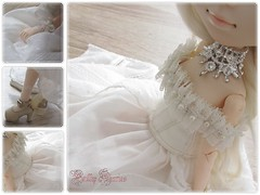 Outfit Review ♥ (Little Queen Gaou) Tags: outfit review pullip doll princess victorian inspiration shabby lady groove beautiful photography style lace satin pearl