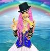 "Rainbow"" (mariadurbani) Tags: mariadurbani durbani maria rainbow candy love sea nature circus show tv skype high gold pink hair beta diamonds laugh friend"