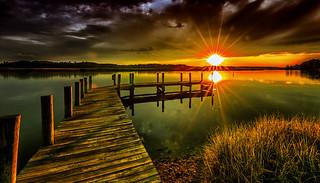 Denbigh Pier Sunset