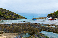 The Harbour and breakwater at Post Isaac. (Geordie_Snapper) Tags: bellabertie canon5d3 canon2470mm cornwall june overcast portisaacportwen summer