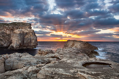 Sunset on Gozo Island.