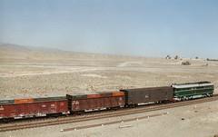 The Silk Road Railway Jiayuguan 1997 (Bruce in Beijing) Tags: china gansu jiayuguan silkroad desert railway transport 1997 onebeltoneroad
