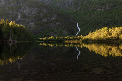 Norwegian nature (explored) (steffos1986) Tags: nature landscape waterfall norway sunset sundown norwegian norwegen norge europe scandinavia summer turism travel hike path water lake fjord cascade stream mountains shadows reflections explore hill view nikon nikkor18105vr d5500 hoyandx4
