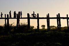 U-Bein bridge at dusk (_DSC6351) (Tartarin2009) Tags: myanmar mandalay ubein bridge travel dusk nikon d600 silhouettes contrejour