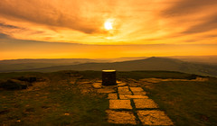 the path to enlightenment (Phil-Gregory) Tags: nikon d7200 tokina 1120mm 1120mmf28 wideangle ultrawide orange view landscape field focus colour yellow peakdistrict derbyshire fly sunset sunrise sky red flag festival image lightroom path enlightenment marker losehill greatridge mamtor hike climb morning