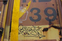 Stoer, ? (NJphotograffer) Tags: graffiti graff trackside railroad rail art freight train bench benching moniker hobo marker streaks box car boxcar stoe stoer cdc crew