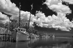 Shrimp Boats (aa4ga) Tags: darienga shrimpboats clouds