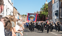 Durham miners gala, 08th July 2017. (CWhatPhotos) Tags: photographs photograph pics pictures pic picture image images foto fotos photography artistic cwhatphotos that have which with contain em5 mk ii omd olympus esystem four thirds digital camera lens olympusem5 43 mft micro durham miners gala city north east england uk people power labour support sunny day 2017 08 08th 07 july harrogate band brass flickr mineworkers pension fight injustice surplus unfair government mine workers minerspensionscheme scheme