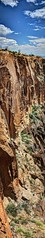 Cochiti Canyon Vertical Cliff Wall (JoelDeluxe) Tags: jemez mountains cochiti canyon newmexico panorama landscape burned area trees skies rocks green riparian nm hdr joeldeluxe
