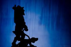 walk past the wild wood (sure2talk) Tags: walkpastthewildwood silhouette wood overlay man dog pewter sculpture nikond7000 nikkor85mmf35gafsedvrmicro flash speedlight sb900 softbox offcamera diffused macro macromondays closeup woods