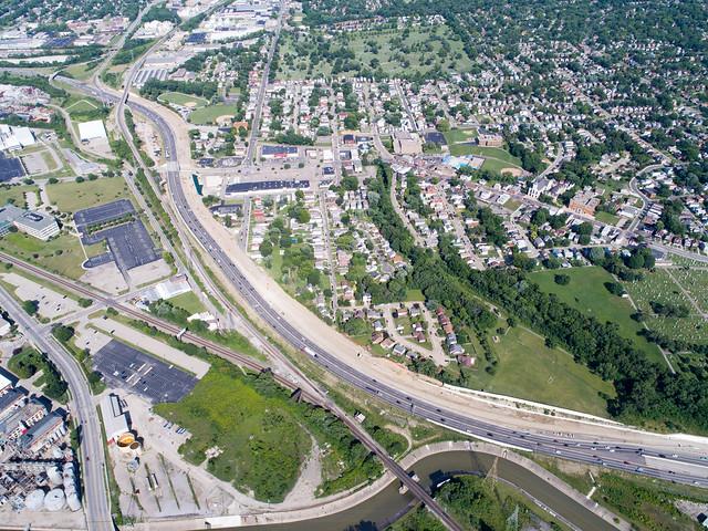 cincinnati djiphantom4pro i75 i75millcreekexpressway interstate75 millcreekexpressway ohio aerial aerialphotography drone quadcopter unitedstates us