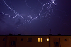 Lightning at Midnight (andygame) Tags: lightning storm nikon1 j3