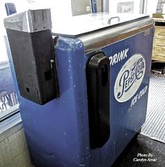 Pepsi Cola Machine-1950's (Carolyn Arzac) Tags: pepsicola vendingmachine antique sandy utah joancrawford actress 1950s pentax k50 flickr ngc