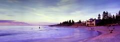 Cottesloe Beach Panoramic (Justin Barr's Photos) Tags: cottesloe beach perth 617 film velvia 100 fotoman f32 4s sunset fujinon 105mm f8