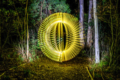 Orbalicious (stephenk1977) Tags: australia queensland qld brisbane alderley banksstreetreserve night wood forest path orb strobe lightflute nikon d3300 light painting art ledlenserp72 convoys2 lightpaintingbrushes universalconnector