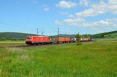 DBC 185 372, Meisenbach (Sander Brands) Tags: trein train treni treno trenuri bombardier traxx züge züg zug haunetal rail
