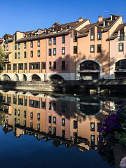 GAM Day 188-17 reflection (gamulryan) Tags: buildings reflections pastelcolours annecy