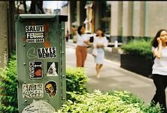 I Love Porno (35mm) (jcbkk1956) Tags: street bangkok thailand sukhumvitroad streetfurniture porno stickers graffiti film analog 35mm manualfocus kodak kodakgold200 olympus om2n thai girls women worldtrekker 50mmf14