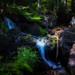 Sur le haut de la grande cascade du Tendon