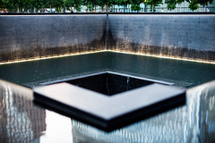 9/11 Memorial Reflection Pool (D. Bradford) Tags: architecture wtc 911 memorial nyc water