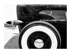 parts of a rat... (Stu Bo) Tags: ride rebel rearend ratrod certifiedcarcrazy coolcar car beautiful bestofshow blackandwhite bw bnw wheels whitewalls kustom dreamcar sbimageworks shadows showcar smooth light
