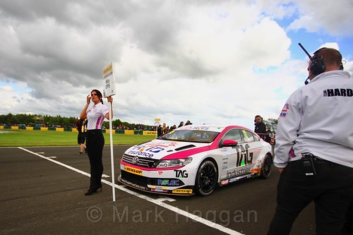 Mike Epps on the BTCC grid at Croft, June 2017