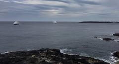 Portrush- cruise ship in stereo....... (apcmitch) Tags: ireland portrush coast causeway iphonephotos sea