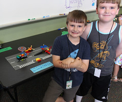 Sean and Riley (ACPL) Tags: acpl fortwaynein allencountypubliclibrary georgetown geo legoclub thingswithwheels 2017