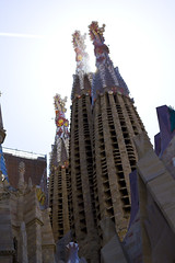 Sagrada Familia (Anneya_Art) Tags: barcelona spain sagrada familia sagradafamilia church event visit travel travelling tower art organic architecture antony gaudi antonygaudi monument colorful inspired