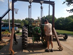 2017-06-10 09.28.54 (neals49) Tags: 3010 tractor john deere 127 pull type gyramor rotary cutter davis mower