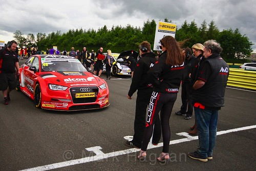 Ollie Jackson stops at his grid position during the BTCC weekend at Croft, June 2017