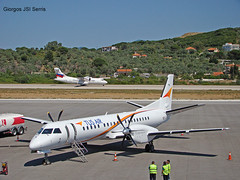 "TUS Airways Saab 2000 • <a style=""font-size:0.8em;"" href=""http://www.flickr.com/photos/146444282@N02/35262085675/"" target=""_blank"">View on Flickr</a>"