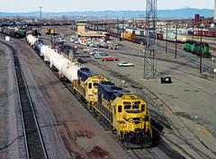 Santa Fe Geeps at Pueblo (Erie Limited) Tags: atsf santafe emd gp38 gp382 puebloco train railfan railroad