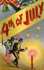 Getting Lit with Uncle Sam on the Fourth of July (Alan Mays) Tags: ephemera postcards greetingcards greetings cards paper printed independenceday fourthofjuly 4thofjuly july4 july4th 4th fourth holidays patriotic stars stripes flags eagles animals banners fireworks firecrackers unclesam men clothes clothing tuxedos hats beards illustrations borders red white blue yellow gold 1910s antique old vintage typefaces type typography fonts