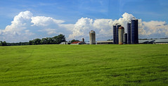 Farm - Anderson Co., S.C. (DT's Photo Site - Anderson S.C.) Tags: canon 6d 24105mml lens andersonsc upstate south carolina rural farm silo barn agriculture pastoral storm clouds sky landscape southernlife southern america
