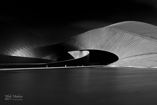 The Blue Planet aquarium in Copenhagen #black and #white #fine #art #architecture