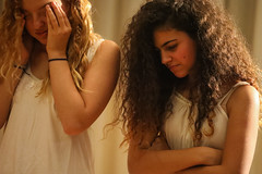 When you are 16, all is gold? (ybiberman) Tags: israel jerusalem girls adolescent portrait candid streetphotography