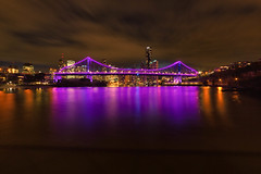 Story Bridge, Brisbane (mclcbooks) Tags: longexposure le brisbane queensland australia brisbaneriver night skyline cityscape landscape clouds dusk storybridge