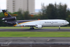 N287UP (SJUAP) Tags: luis cargoairplane freightdog freighter aviation aircraft airplane sanjuan puertorico tjsj sju unitedparcelservice trijet mcdonnelldouglas md11 ups