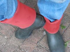 DUNLOP      Purofort   D        do groen  116 (stevelman14) Tags: dunlop purofort groenrood laarzen poseren schoon diepomslag outdoor