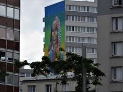 concrete and colors (Jeanne Menjoulet) Tags: paris13 mural immeuble building concrete fresque fresquemurale colors joconde