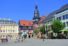 Rathaus und Marktplatz (ivlys) Tags: thüringen eisenach marktplatz marketplace rathaus townhall stadt city ivlys